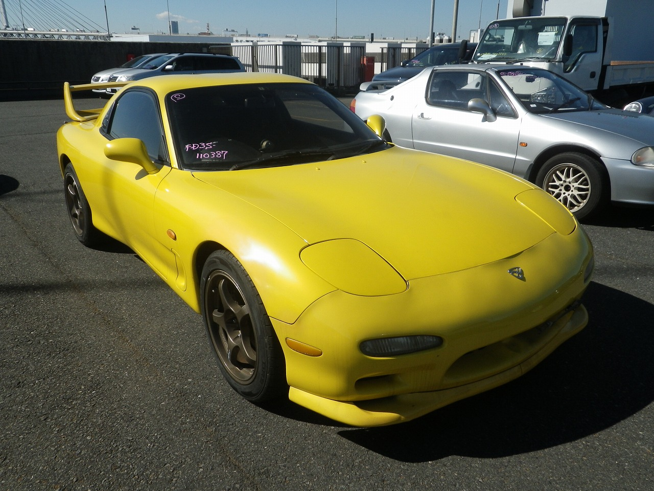 1992 Mazda Rx 7 Yellow Manual June Production Fed Legal Imports 1990 Wiring Diagram
